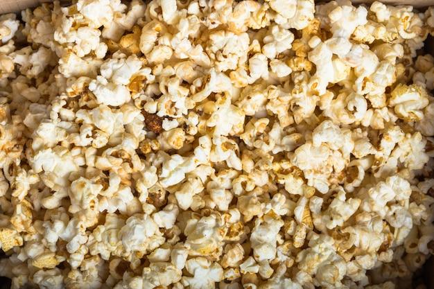 Texture de pop-corn frais