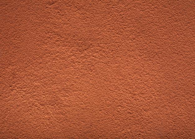 Texture de poudre de cacao