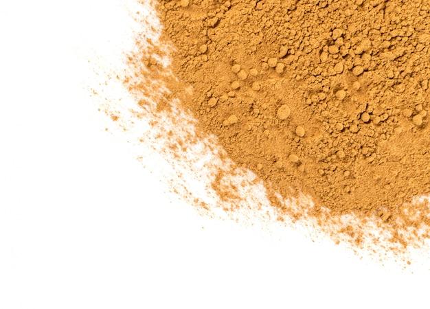 Texture de poudre de cannelle sèche