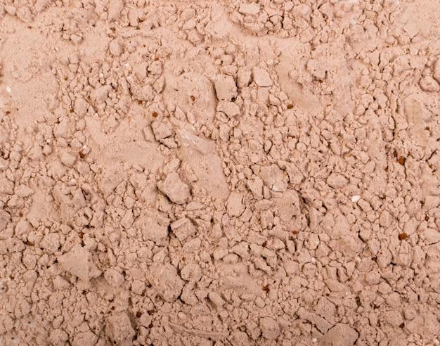 Texture de poudre de protéine de cacao