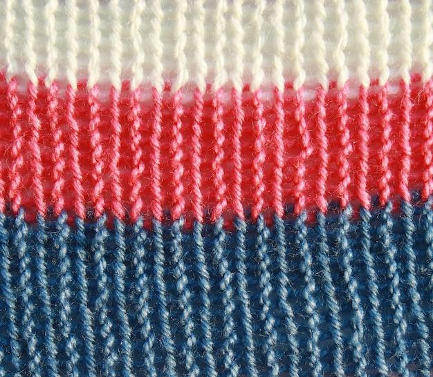 Texture de pull coloré