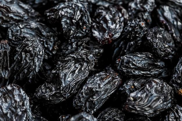 Texture de raisin noir, fruits secs populaires