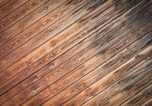 La texture rapprochée des planches boisées.