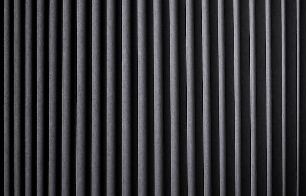 Texture rayée noire, fond métallique nervuré