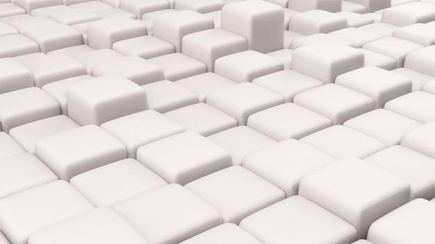 Texture de rendu 3d de cubes à différentes hauteurs