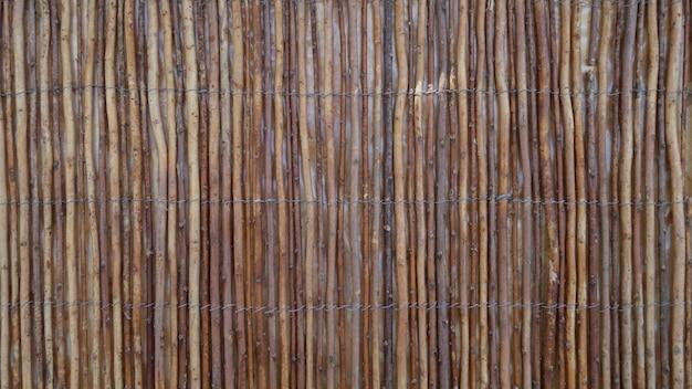 Texture de roseaux en bois