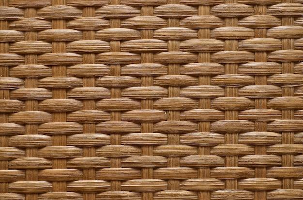 Texture de rotin brun