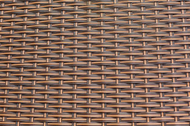 Texture de rotin synthétique, tissage de fond