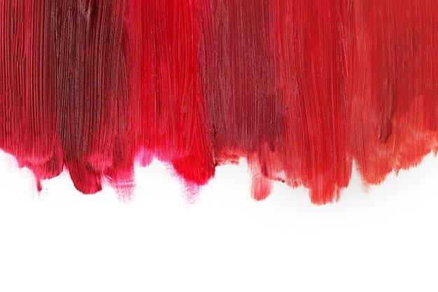 De la texture de rouge à lèvres de couleur claire à profonde. isolé sur blanc. copiez l'espace.