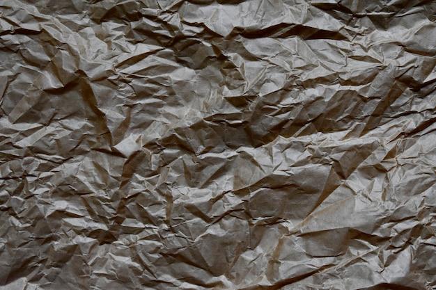 Texture de sac de papier froissé