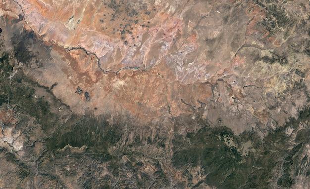 Texture satellite vue de dessus sur l'arizona