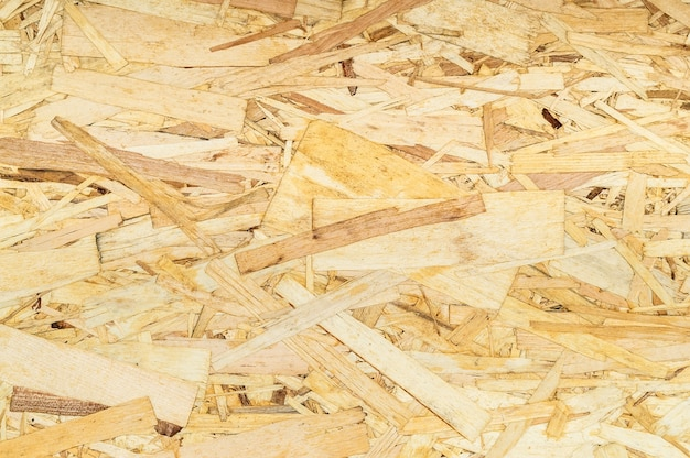 Texture de sciure de bois jaune finement