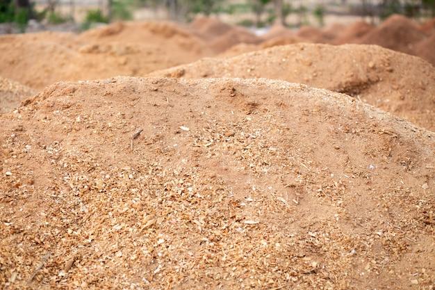 Texture de sciure ou de poussière de bois. gros plan de texture de plancher de sciure de bois.