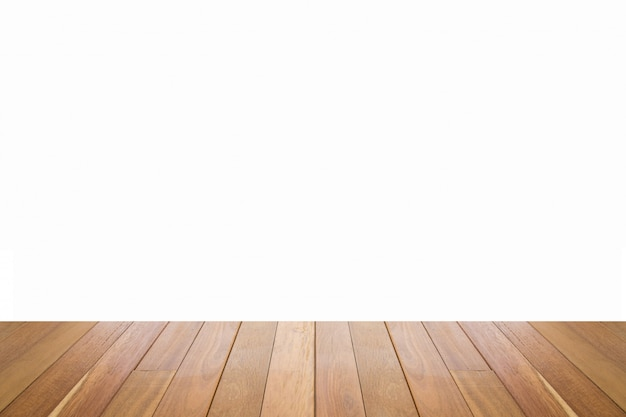 Texture de sol en bois de couleur marron clair isolé sur fond blanc