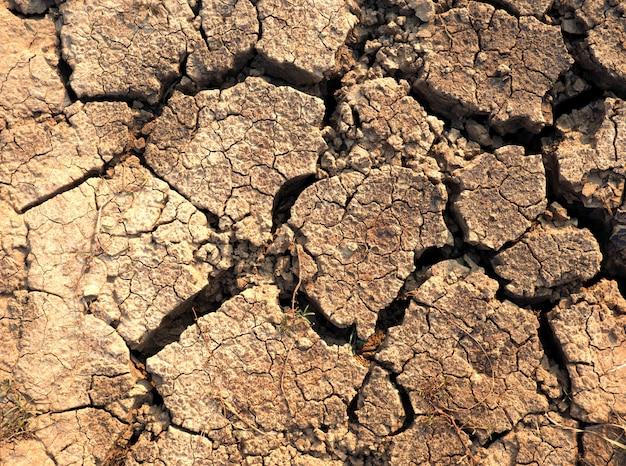 Une texture de sol sèche fissurée et.