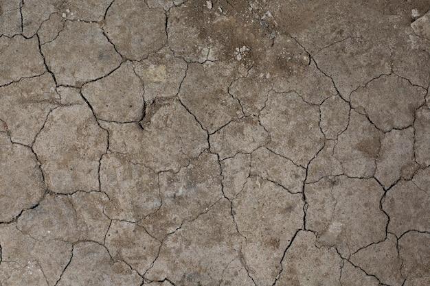 Texture de sol en terre craquelée sèche. pas d'arrosage du désert.