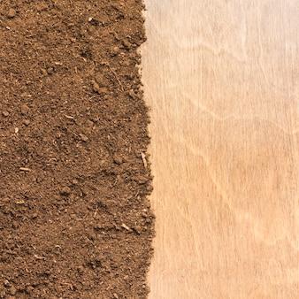 Texture de la surface et du bois
