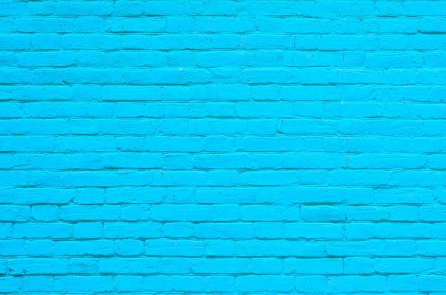 Texture de la surface du mur de brique bleu ancien avec des joints de ciment et de béton
