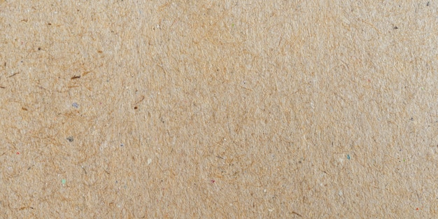 Texture de surface de papier brun panorama et fond avec espace de copie.