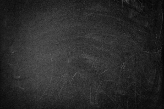Texture de tableau noir sale avec rayures, espace copie
