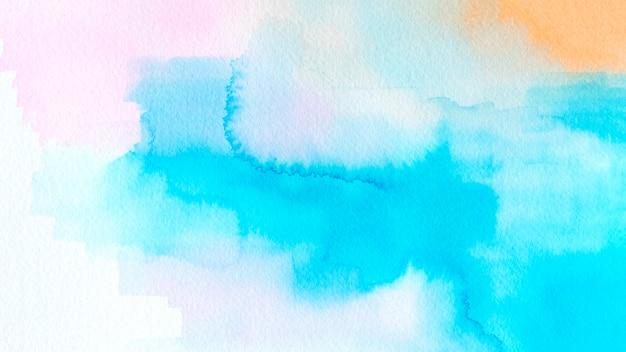 Texture de tache aquarelle colorée abstraite