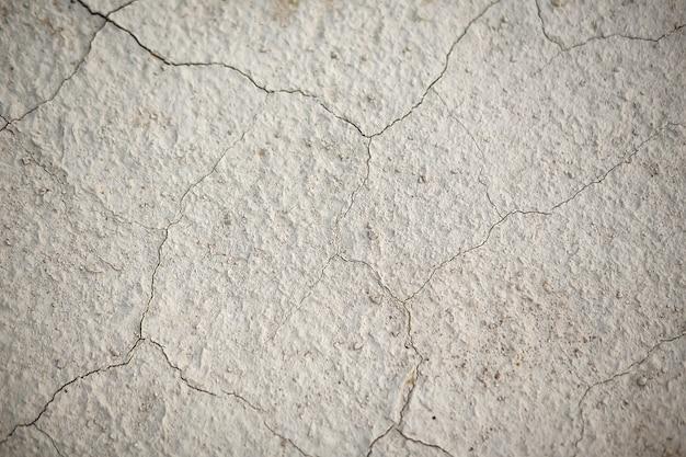 La texture de la terre dans les fissures