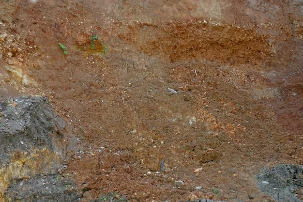 Texture de terre sèche et fissurée.
