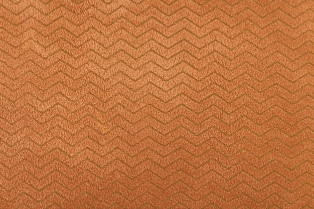 Texture textile orange détaillée