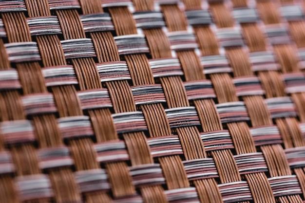 Texture de tissage en plastique marron