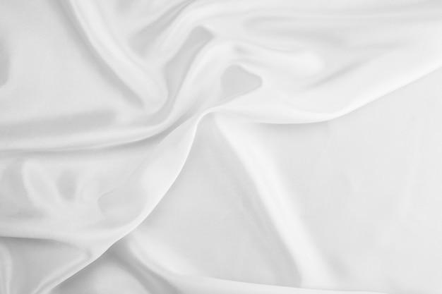 Texture de tissu blanc. fond blanc . abstrait