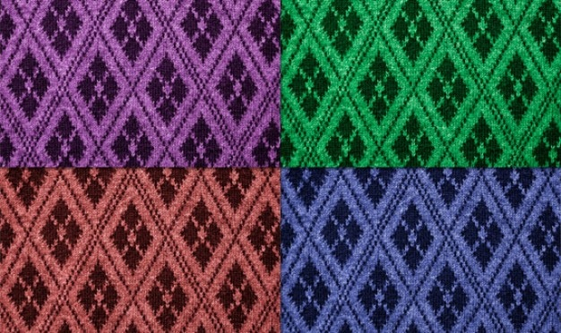 Texture de tissu carreler avec 13 couleurs