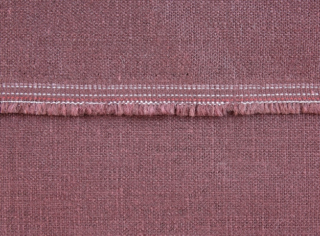 Texture de tissu avec couture