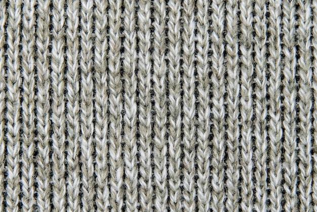 Texture d'un tissu de laine tricoté