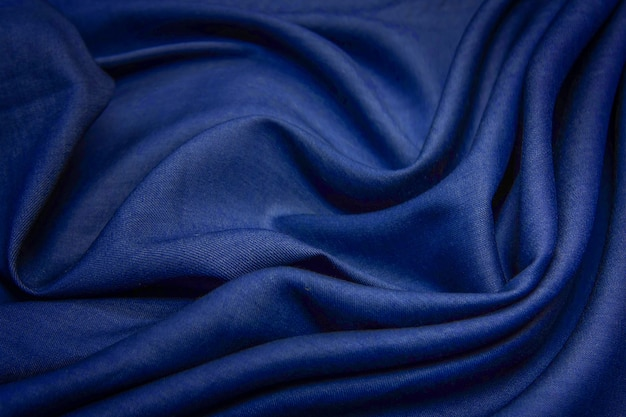 Texture de tissu de lin bleu.