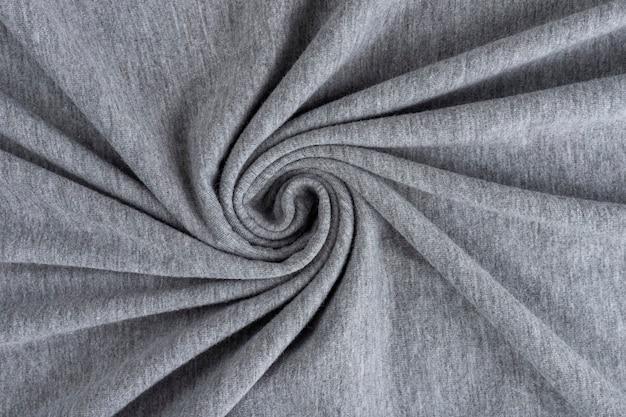 Texture de tissu de lin froissé. textile froissé. grise.
