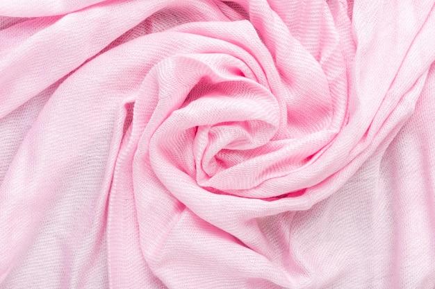 Texture de tissu de lin froissé. textile froissé. rose.