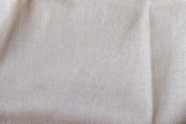 Texture de tissu de lin naturel vue de dessus