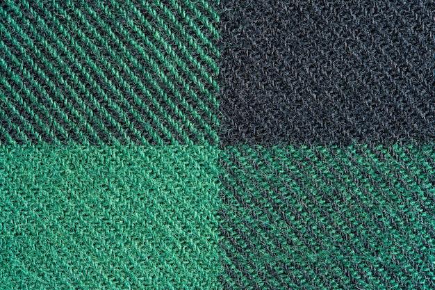 Texture de tissu noir et vert