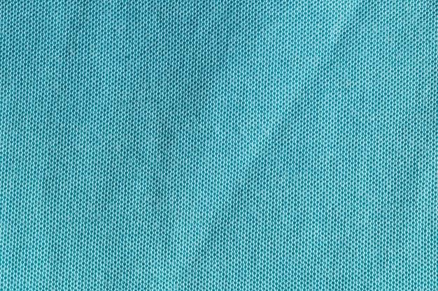 Texture de tissu polyester bleu, vert