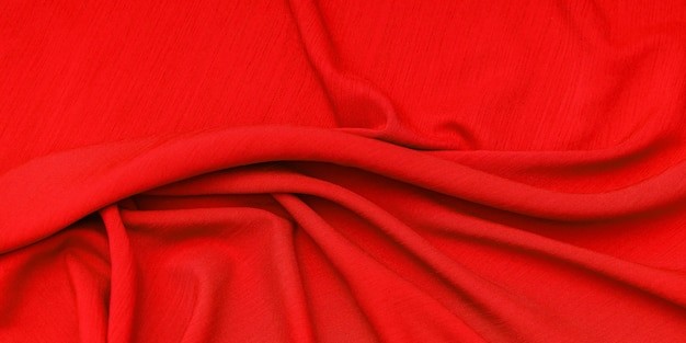 Texture de tissu rouge, espace vide.