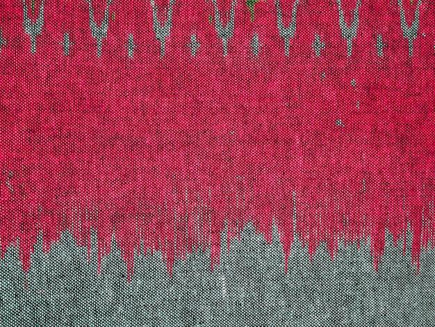 Texture de tissu rouge et gris pour le fond