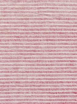 Texture de tissu rouge à rayures blanches