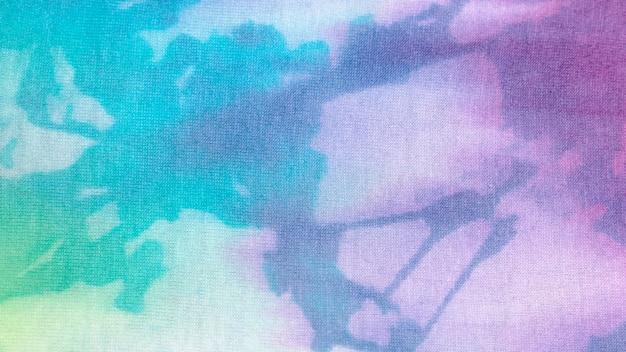 Texture de tissu tie-dye coloré