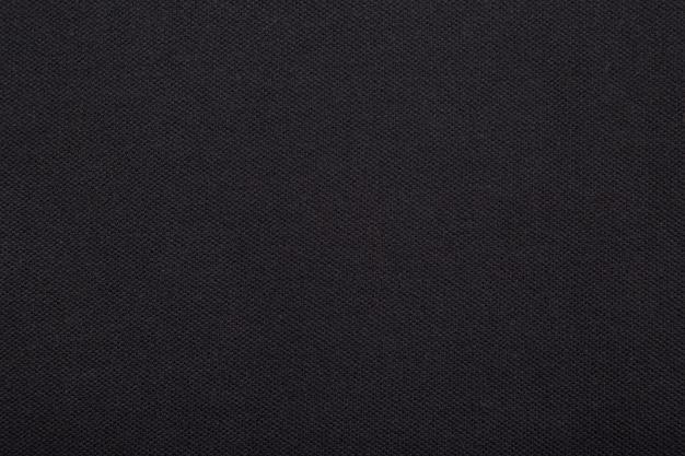 Texture de tissu en tissu noir.