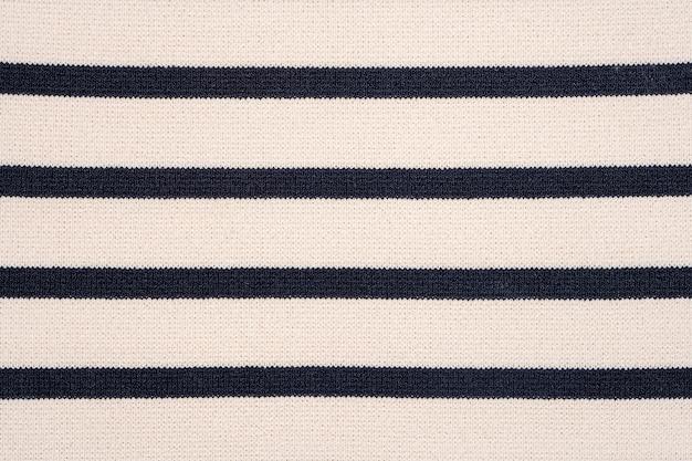 Texture de tissu en tricot rayé