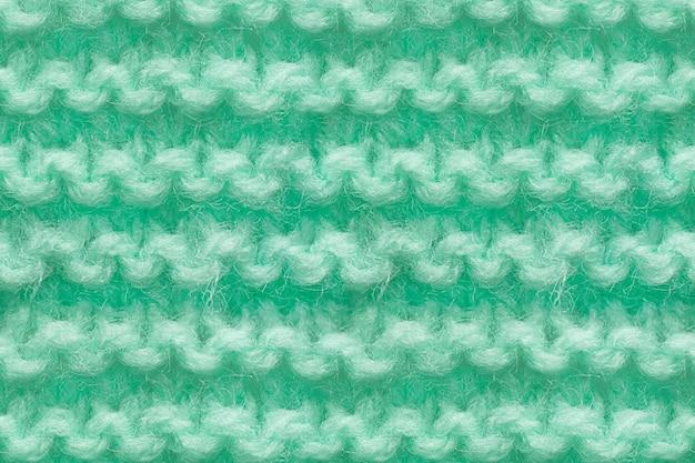 Texture de tissu de tricots de couleur turquoise, menthe. texture de tricot