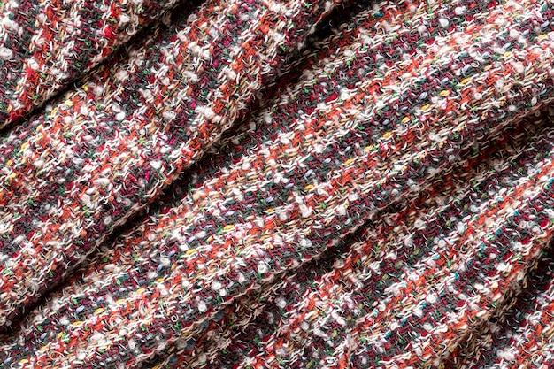 Texture de tissu vue de dessus