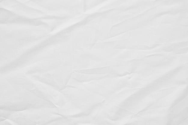 Texture de toile froissée en tissu blanc