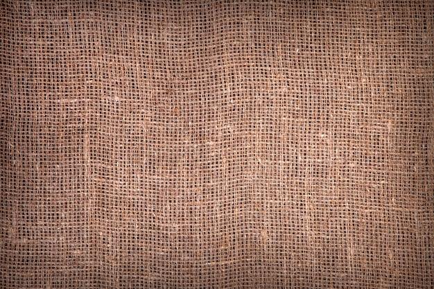 Texture de toile de jute foncé