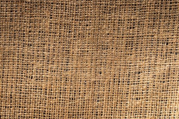 Texture de toile de jute. textile de près. macro.